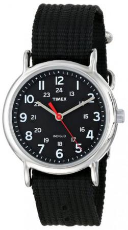 Timex Weekender Unisex Black Nylon
