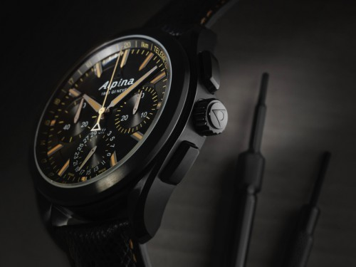 Alpina Alpiner 4 Manufacture Flyback Full Black Chronograph