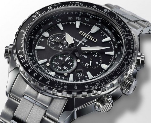 Seiko Prospex Radio Sync Solar World Time Chronograph